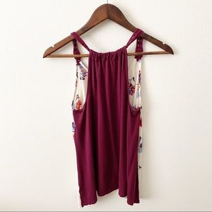 Maurices Tops - Maurices - Burgundy Floral Tank Top - M